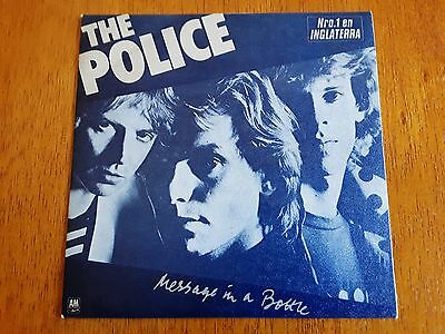 POLICE PS single Message In A Bottle / Landlord  (A&M AMS-7642 - Spain 1979)