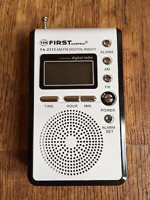 Brand New First Austria AM/FM Digital Handheld Sport/Football Pocket Radio