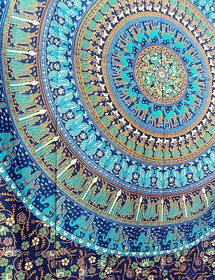 COTTON INDIAN MANDALA TAPESTRY HIPPIE TAPESTRIES BOHEMIAN TAPESTRY TWIN Size  AU