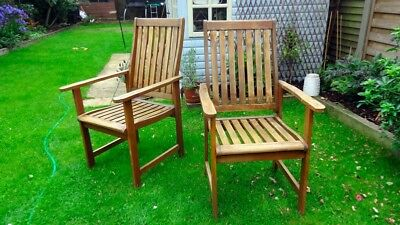 PAIR* BillyOh Windsor Wooden High Back Garden Chairs Set of 4  2 Pairs available