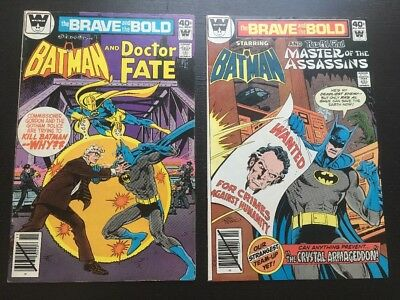 The Brave And The Bold #156 F- & #159 VF- Whitman Variants.