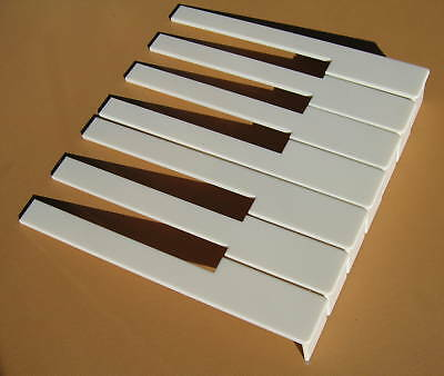 Piano Key Tops with Fronts -Off White -One Octave-F&N - for Upright Pianos