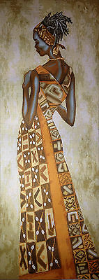"""Gobelin Tapestry Needlepoint Kit  """"African woman""""  printed canvas 398"""