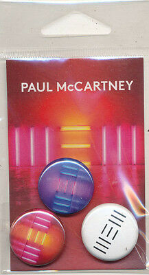 Paul McCartney New RARE promo button set '13 (SEALED)