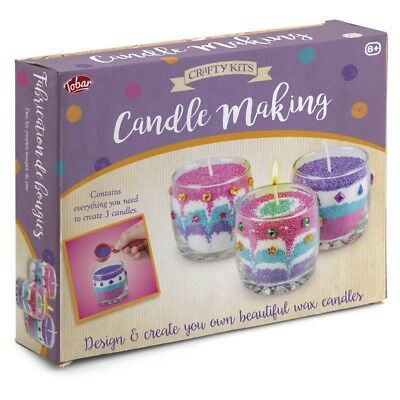 Candle Making Kit - 12728 Beautiful Colourful Wax Candles Wicks Jars Kids Fun