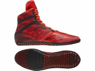 Adidas Wrestling Flying Impact Boots Shoes Red/Black - BY1580