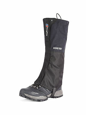 BERGHAUS ADULTS Black Gore-tex WATERPROOF Hiking Outdoor Gaiters **RRP £50**