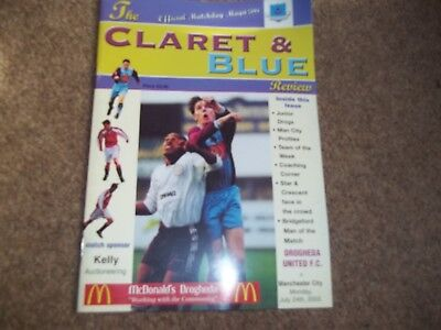 Drogheda United V Manchester City Friendly 24Th July 2000