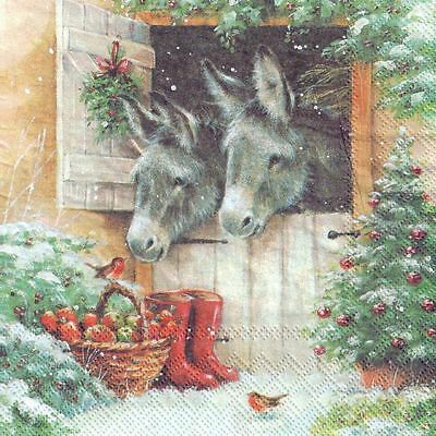 dog design-X182 Christmas,winter,puppy 4 Single paper decoupage napkins Xmas