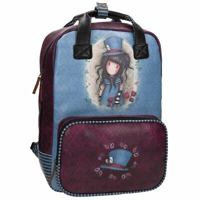 Gorjuss The Hatter Zainetto per bambini, 40 cm, 15.08 liters, Blu (Azul)