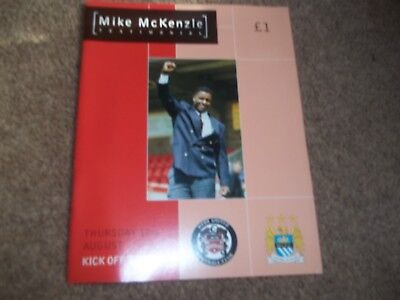 MIKE McKENZIE TESTIMONIAL HYDE UNITED V MANCHESTER CITY 17TH AUGUST 2000
