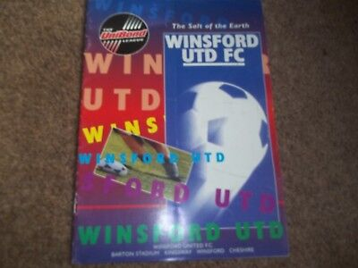 Winsford United V Manchester City Friendly 9Th August 1995