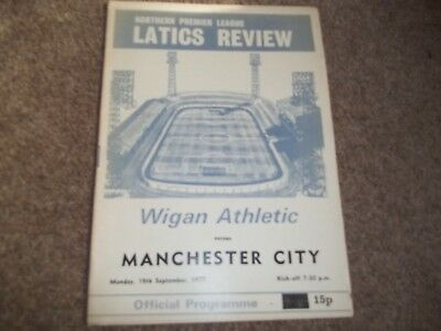 Wigan Athletic V Manchester City Friendly 19Th September 1977