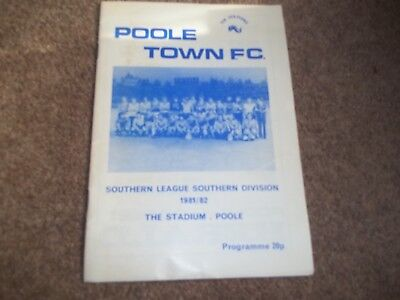Poole Town V Manchester United Friendly 11Th November 1981