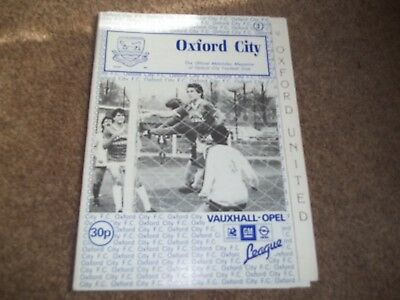 Rare Oxford City V Oxford United Friendly 2Nd August 1986