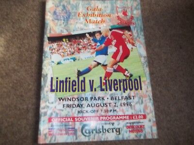 Linfield V Liverpool Gala Exhibtion Match 2Nd August 1996
