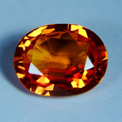 5.20ct.AWESOME VIVID PADPARADSCHA SAPPHIRE OVAL GEMSTONE
