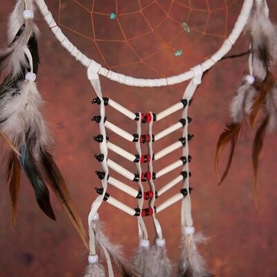 """White Dreamcatcher With Feathers 18"""" Long Great Quality"""