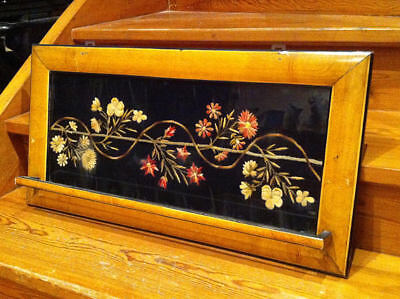 ANTIQUE TOWEL RACK WALL HANGER HAND EMBROIDERY NEEDLEWORK VINTAGE KITCHEN 1930's