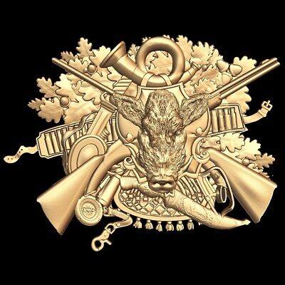 (792) STL Model Hunting for CNC Router 3D Printer  Artcam Aspire Bas Relief
