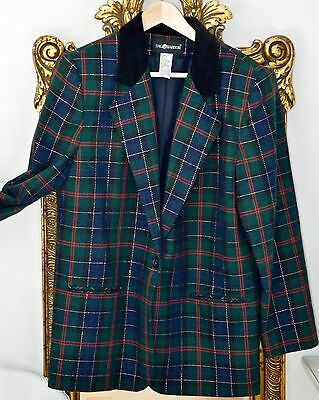 Vintage Sag Harbour Plaid Jacket size 14