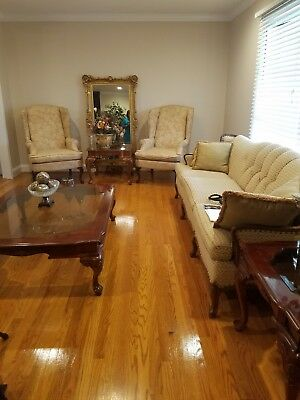 2 Queen Anne Chairs and Antique Couch for $450.00