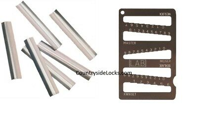 LAB LSM0V25 .0015 STAINLESS STEEL CURVED SHIM STOCK 25 PACK REKEY TOOL