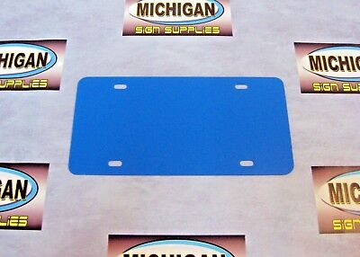 Colonial Blue .050 Plastic License Plate Blank *Create Your Own Designs*