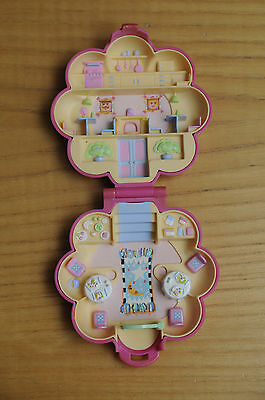 Polly Pocket 1990 Con Cuoco Bluebird Mr Fry's Restaurant Fiore Rosa