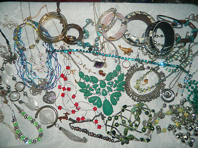 Job lot of mixed costume jewellery all wearable condition