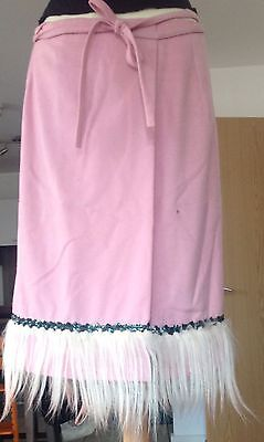 WOMAN'S SKIRT PINK WOOL BLEND ADELE FADO SIZE 1 Or S