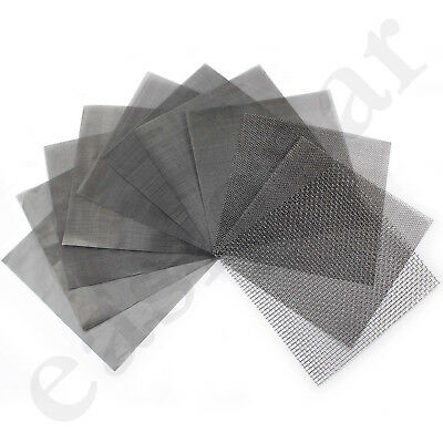 Stainless Steel Woven Wire Mesh Filter Grading 15cm Sheet Silk to Heavy Gauze