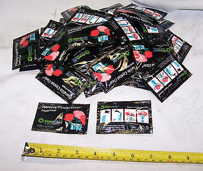 50 Double Pack Floralife Crystal Clear Cut Flower Food Packets Hydrate Nourish