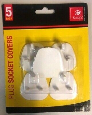 5 x Plug Socket Covers Children's Safety Protector for UK 3 pin