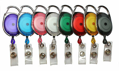 Badge Reel Pull Ring Retractable Badge Reel Carabiner Style For ID Badge Holders