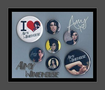 Amy Winehouse Button Badge Collection Set 1 FREEPOST