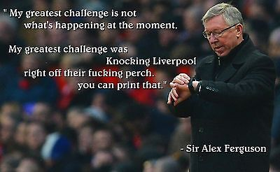 Alex Ferguson with Liverpool Quote Jumbo Manchester United Fridge Magnet