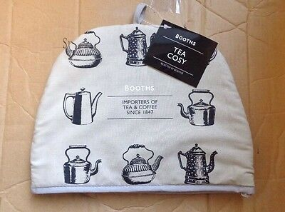 Tea Pot Cosy Cosies Booths Padded Beige 100% Cotton Teapot Gift Top Quality New