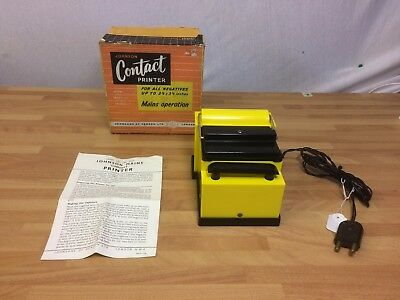 Johnson Mains Contact Printer Boxed With Guide