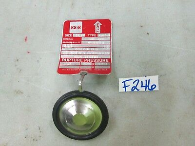 BS&B S/S Sanitary Flange Rupture Disc Type: GFR-SM Size: 1-1/2 316 S/S (New)