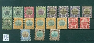 Lot 900 Bermuda Mint Docks Sg. 31-39 Cat 171.00 Pounds Or $222.00