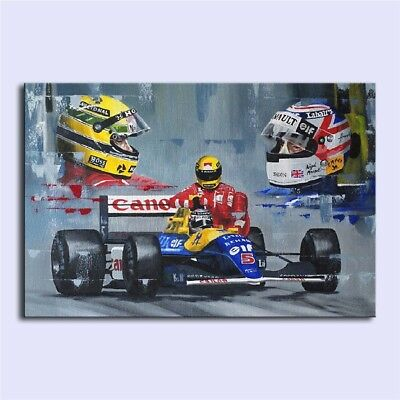 A Moment in F1 History,Oil Painting HD Print On Canvas Modern Deco Wall/Unframed