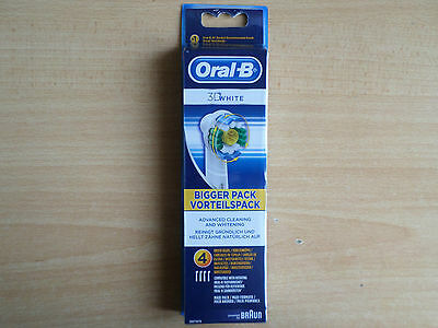 Pack Of 4 Braun Oral-B 3D White Action Replacement Toothbrush Heads