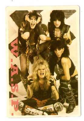 W.A.S.P. - 1 x PORTUGAL  pocket CALENDAR CARD 1986  * wild child *