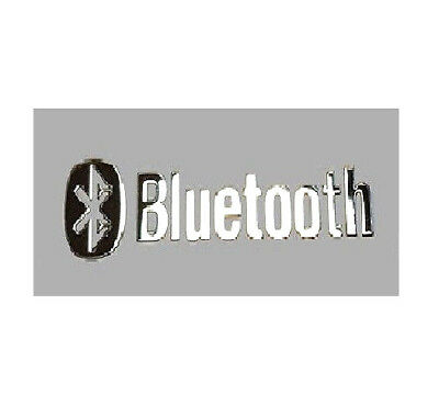 1x Bluetooth Silver Sticker Logo Emblem Decal Badge PC Desktop Laptop NotePad