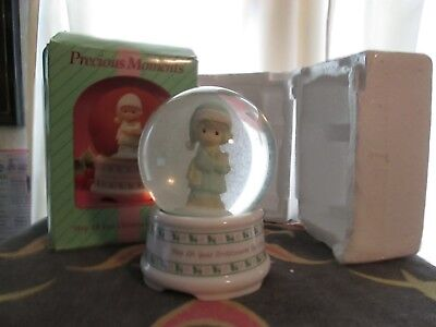 precious moments porcelain holiday musical waterball