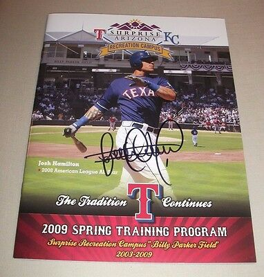 Elvis Andrus - Signed 2009 Texas Rangers Spring Training Program! Autographed