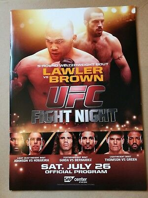 UFC Event Programs £9.99 each
