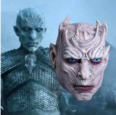 GoT Game of Thrones Night's King Mask Cosplay White Walker Latex Mask Halloween