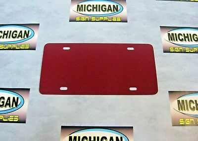 5 Pack of Maroon .050 Plastic License Plate Blanks **Create Your Own Designs**